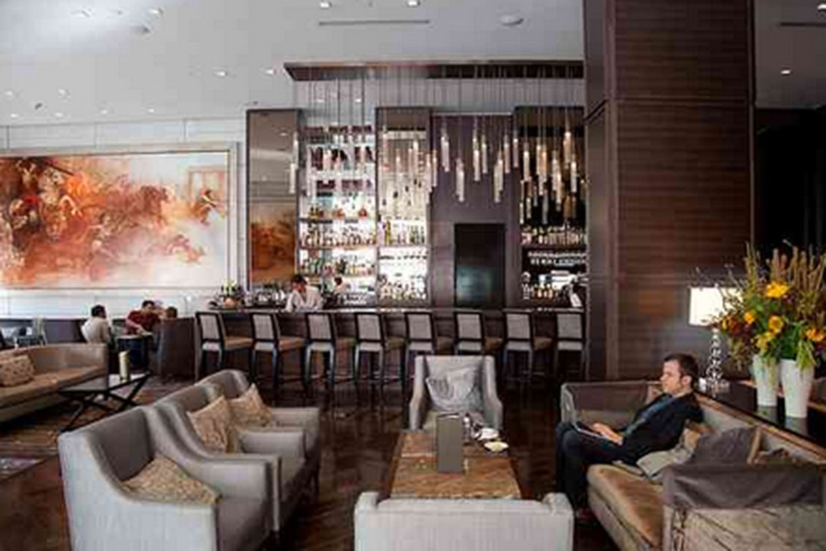 The lounge at Ame.