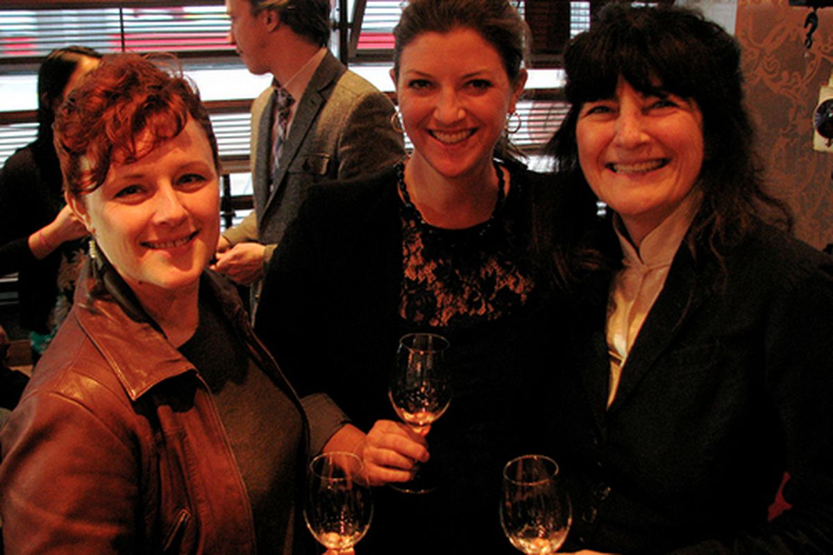 From left: Emily Wines, Shelley Lindgren, Ruth Reichl.