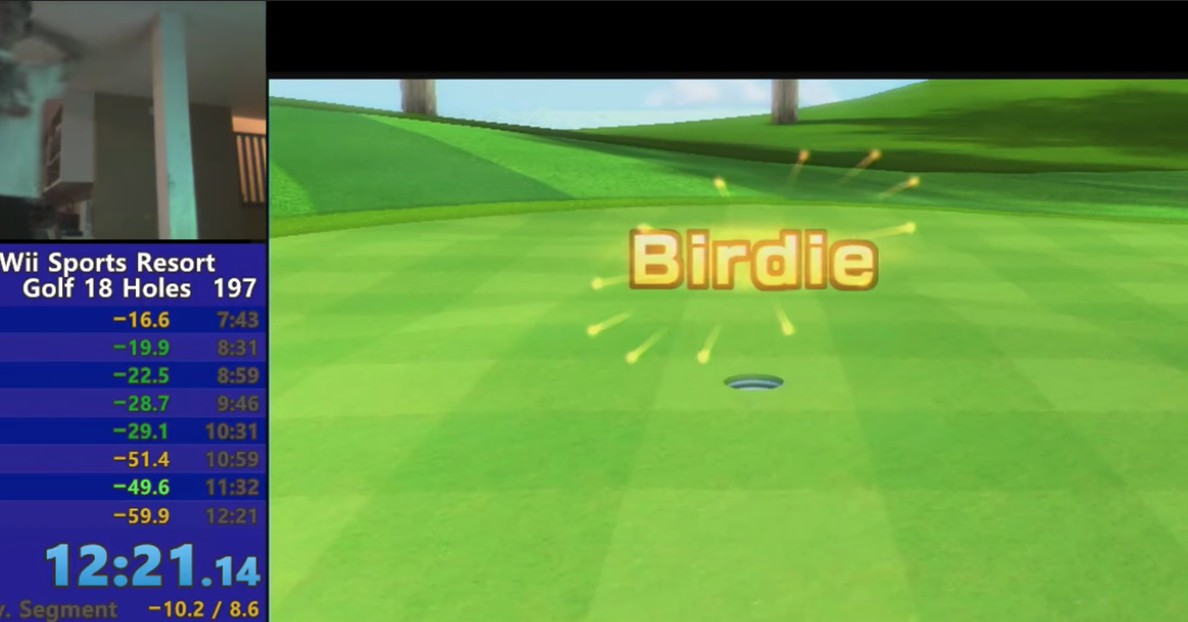 World record time in Wii Sports Resort Golf brings out the best of speedrunning (corrected)