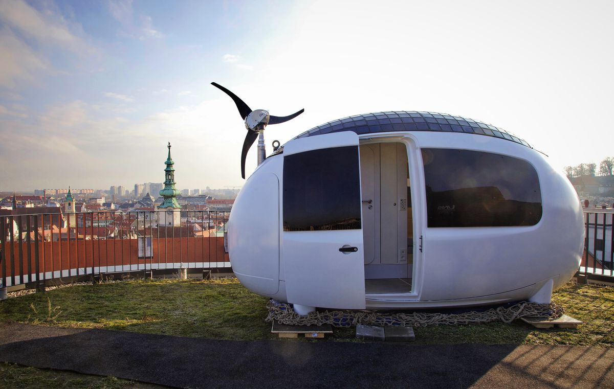 Ecocapsule installed on city roof