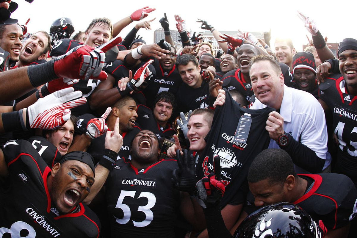 For being such a common sight in Clifton a lot of people seem to forget scenes like this happen rather alot for the Bearcats. (Photo by Tyler Barrick/Getty Images)