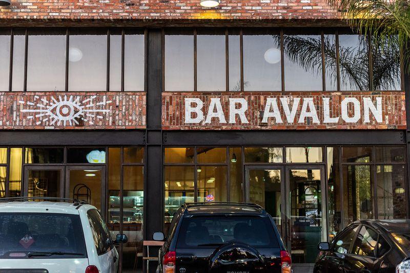 A brick exterior for bar and restaurant Bar Avalon.