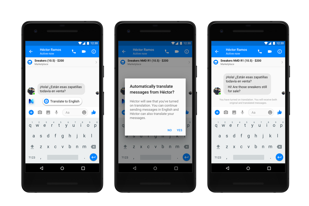 Facebook Messenger can now translate between Spanish and English