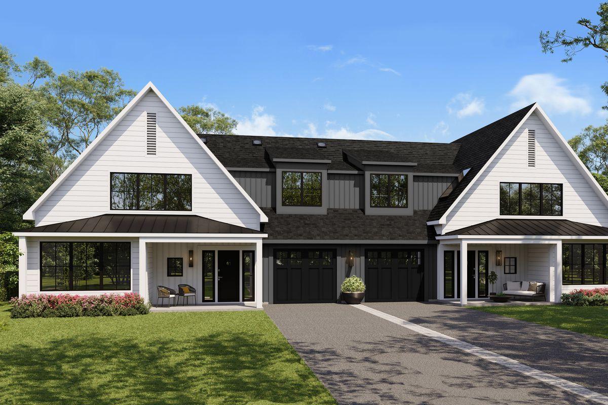 Summer 2021 Idea House, Cottage Community, Norwalk, CT, exterior rendering