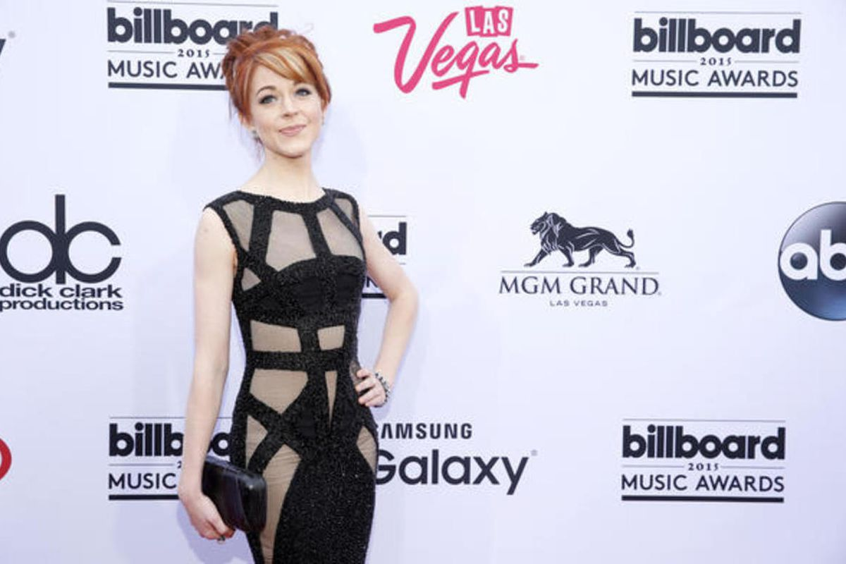 Lindsey Stirling arrives at the Billboard Music Awards at the MGM Grand Garden Arena on Sunday, May 17, 2015, in Las Vegas.  Eric Jamison, Invision, Associated Press