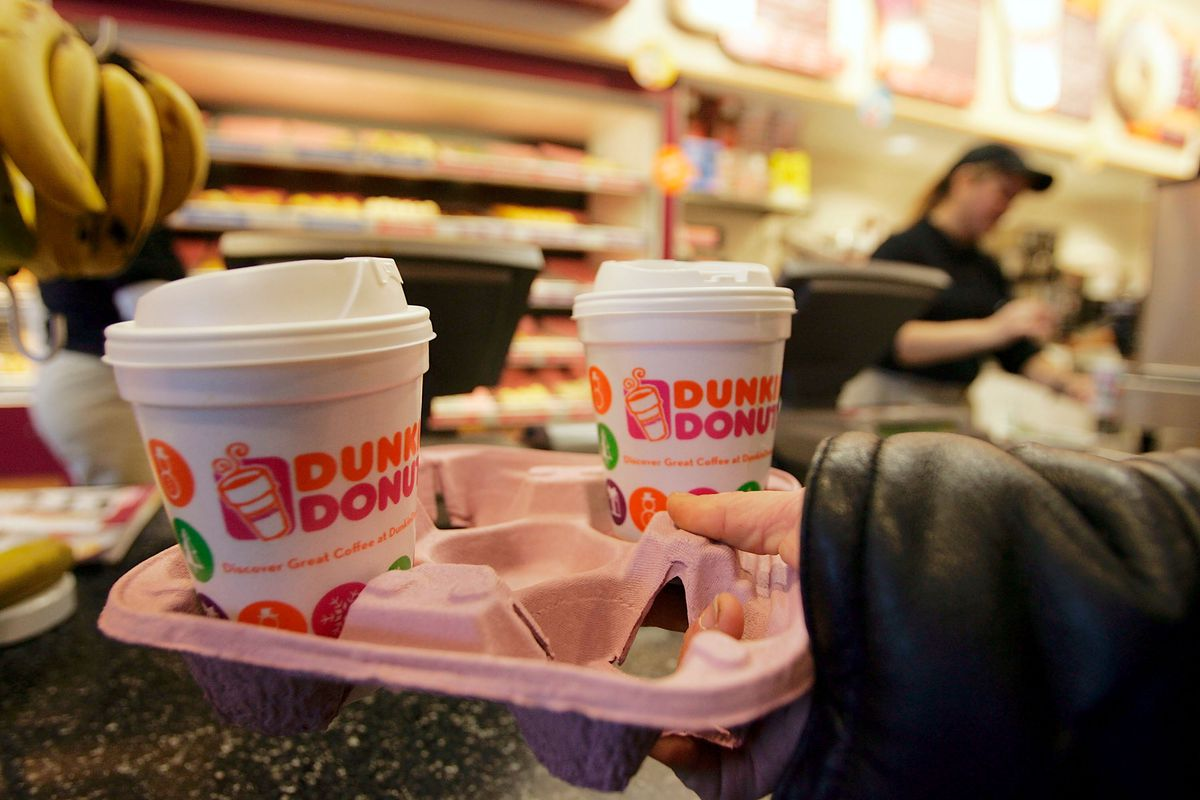 If it has a Dunkin' Donuts logo on it, it's got to go. Joe Raedle/Getty  Images ...