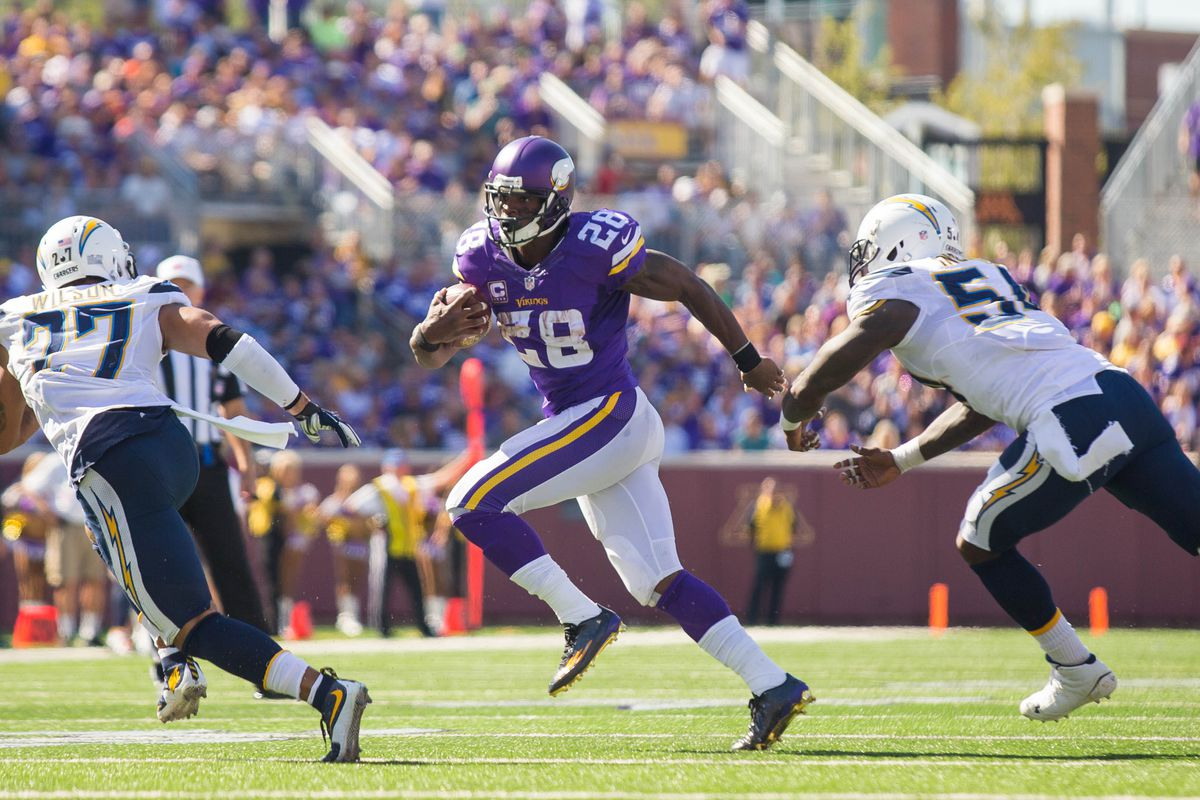 Peterson might be the only fantasy relevant Vikings player yet again...but certainly this week.