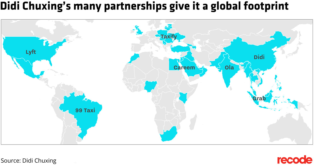 Didi is buying an uber competitor in its fastest growing region recode didi world map gumiabroncs Images