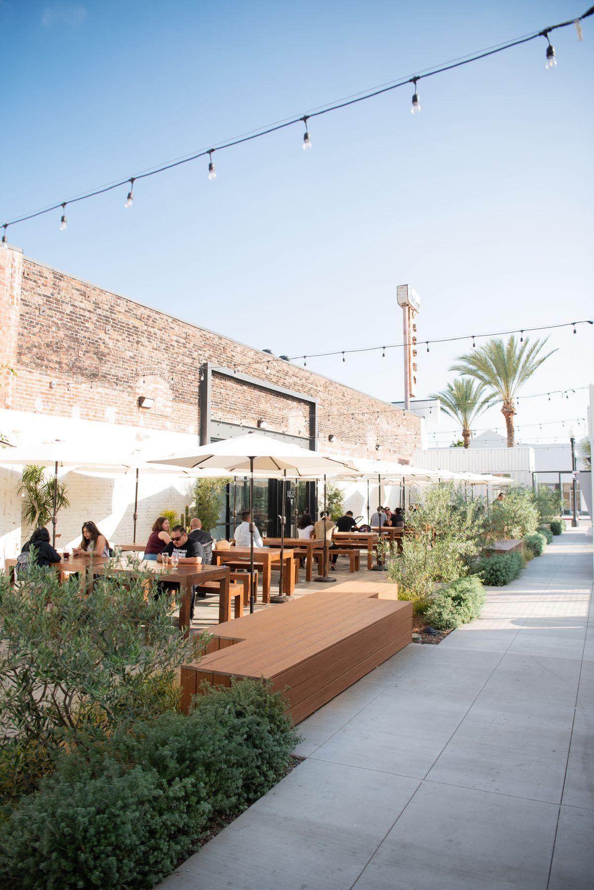 Courtyard at BLVD MRKT in Montebello, California