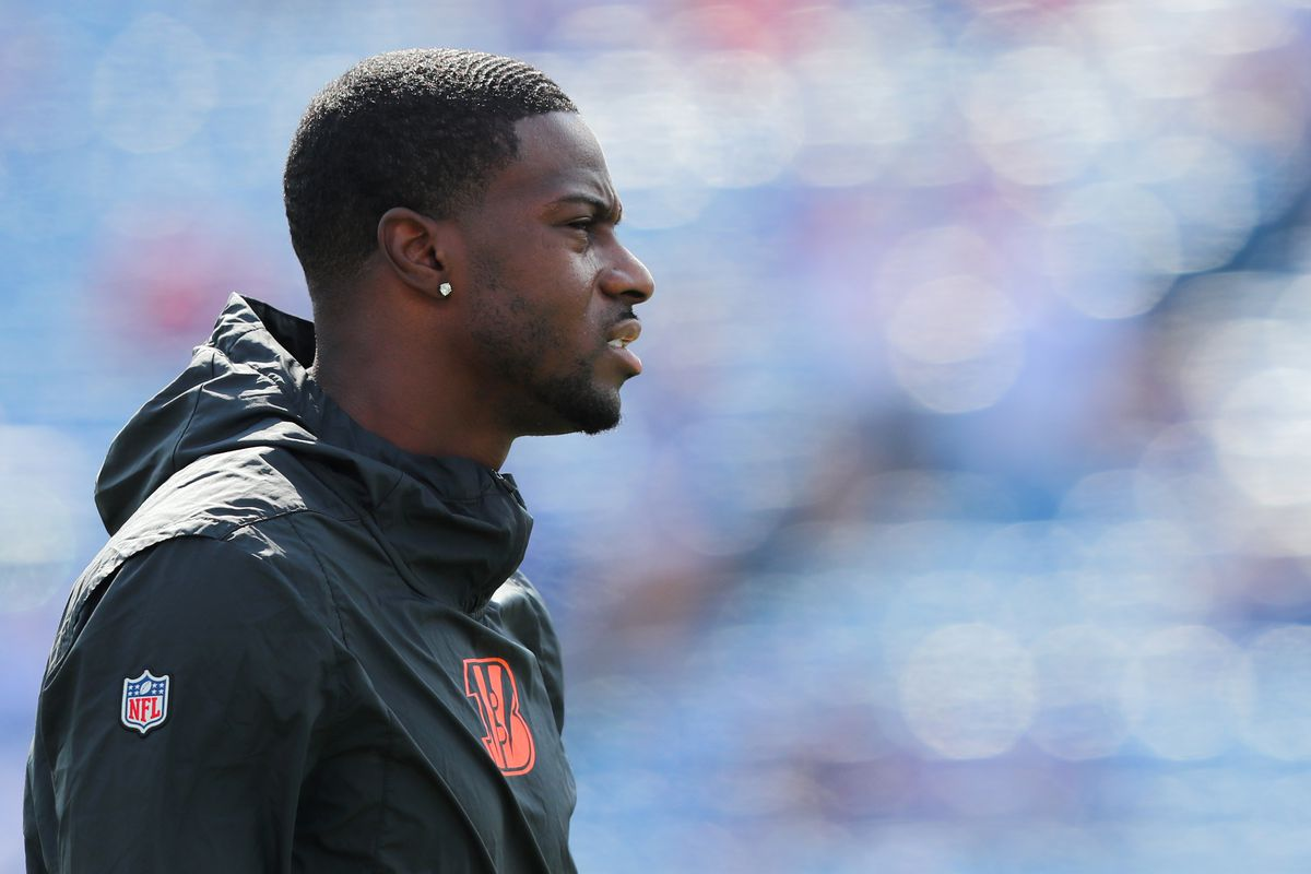 A.J. Green of the Cincinnati Bengals on the field before a game against the Buffalo Bills at New Era Field on September 22, 2019 in Orchard Park, New York.