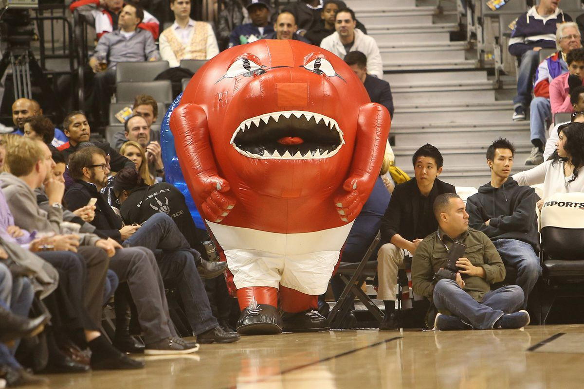The Raptors' mascot has really let himself go