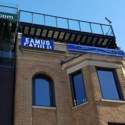 The Eamus Catuli building has a mustache!