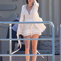 Kendall's short white yacht robe, a Very Good Summer Look.