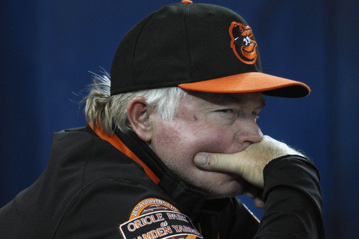 Baltimore Orioles manager Buck Showalter. Tom Szczerbowski-US PRESSWIRE