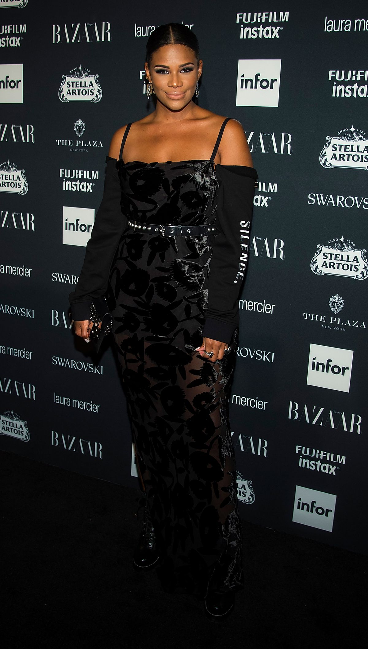 Kamie Crawford attends 2017 Harper's Bazaar Icons at The Plaza Hotel on September 8, 2017 in New York City.