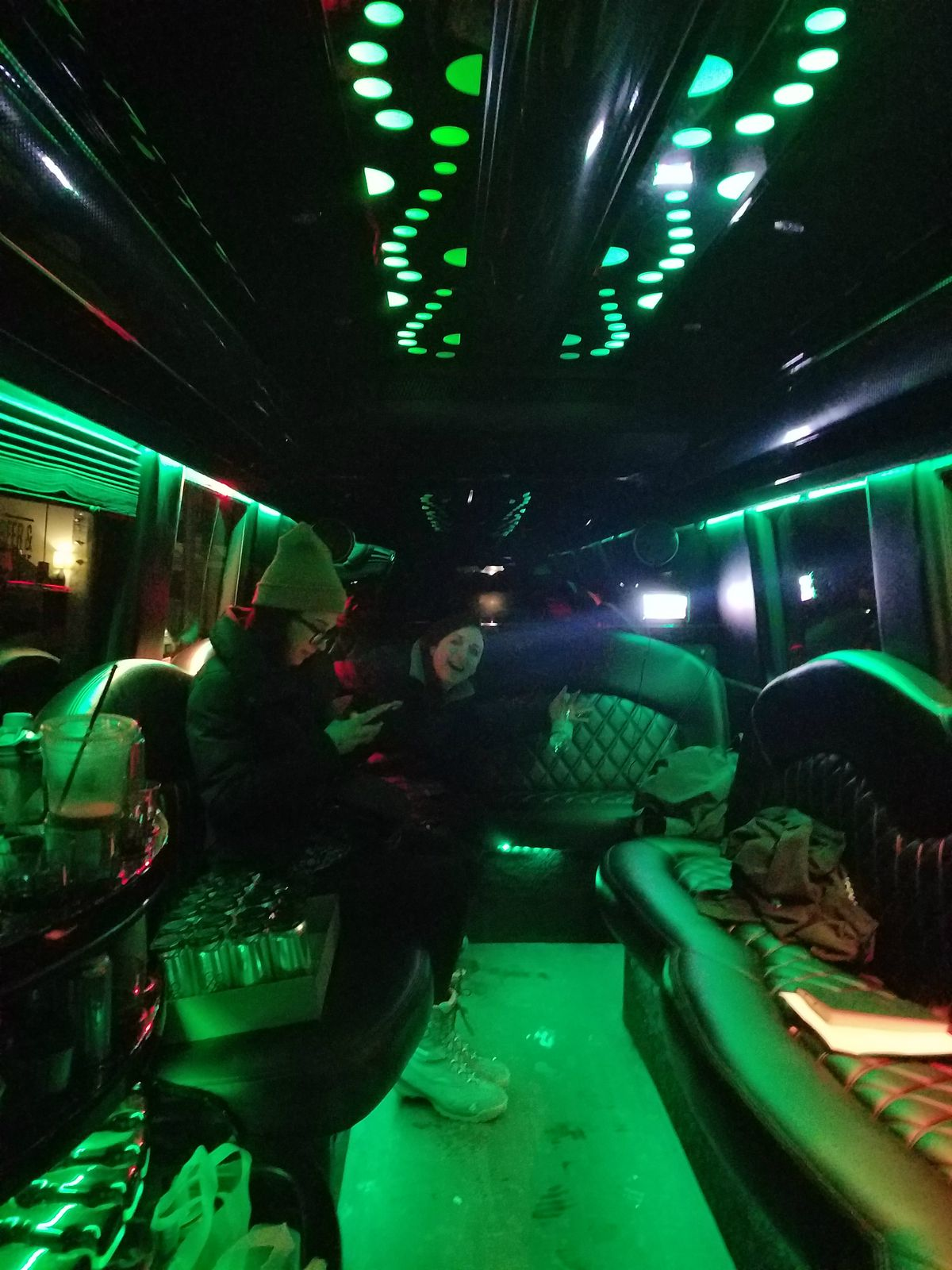 A beer hall crawl in a limo