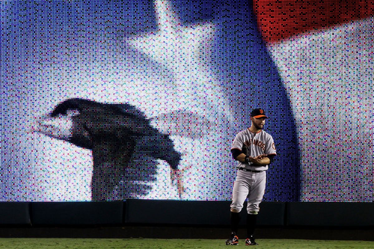That ain't no chipmunk, video board eagle. That's just Cody Ross