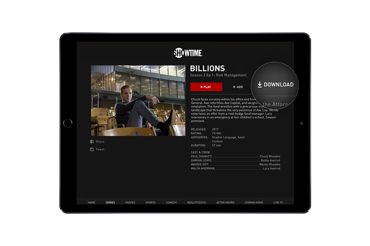 Showtime adds offline downloads to its mobile apps - The Verge