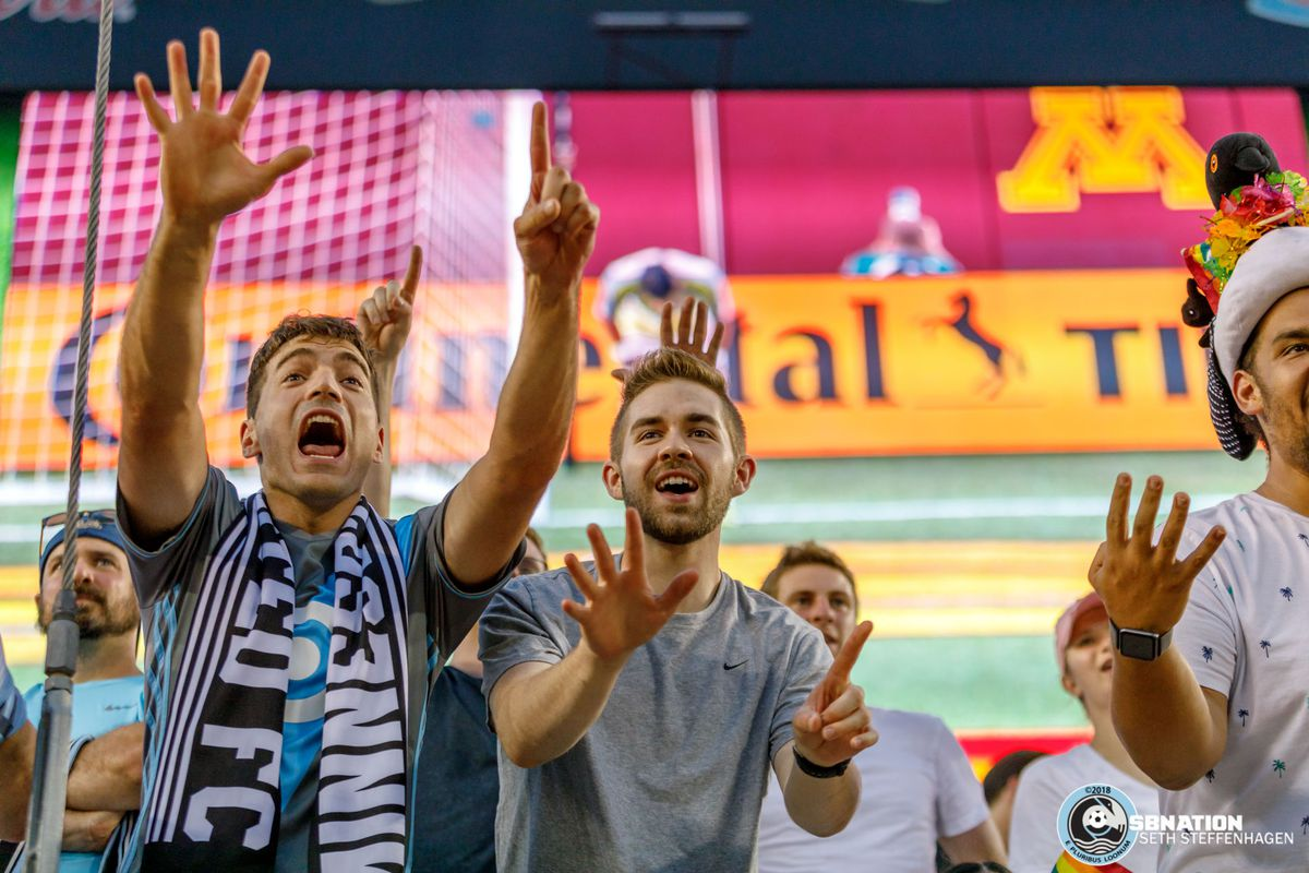 June 29, 2018 - Minneapolis, Minnesota, United States - Fans heckle FC Dallas goalkeeper Jesse Gonzalez (1) for taking too long on his goal kicks during the Minnesota United vs FC Dallas match at TCF Bank Stadium.
