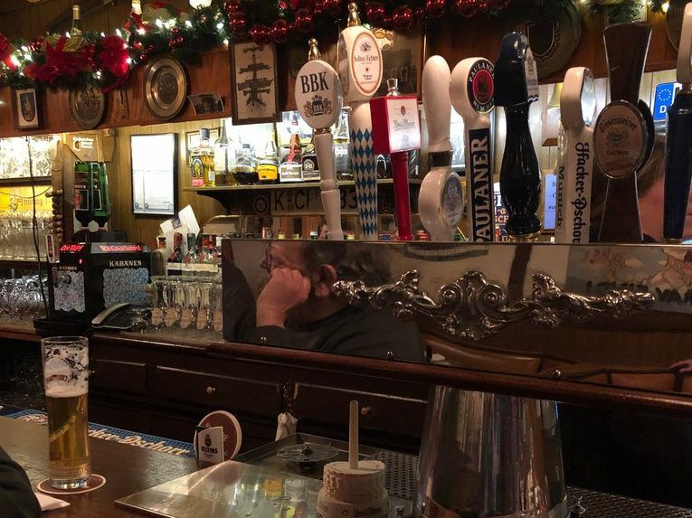 The many varieties of beer available on tap at Laschets Inn. | Ji Suk Yi for the Sun Times
