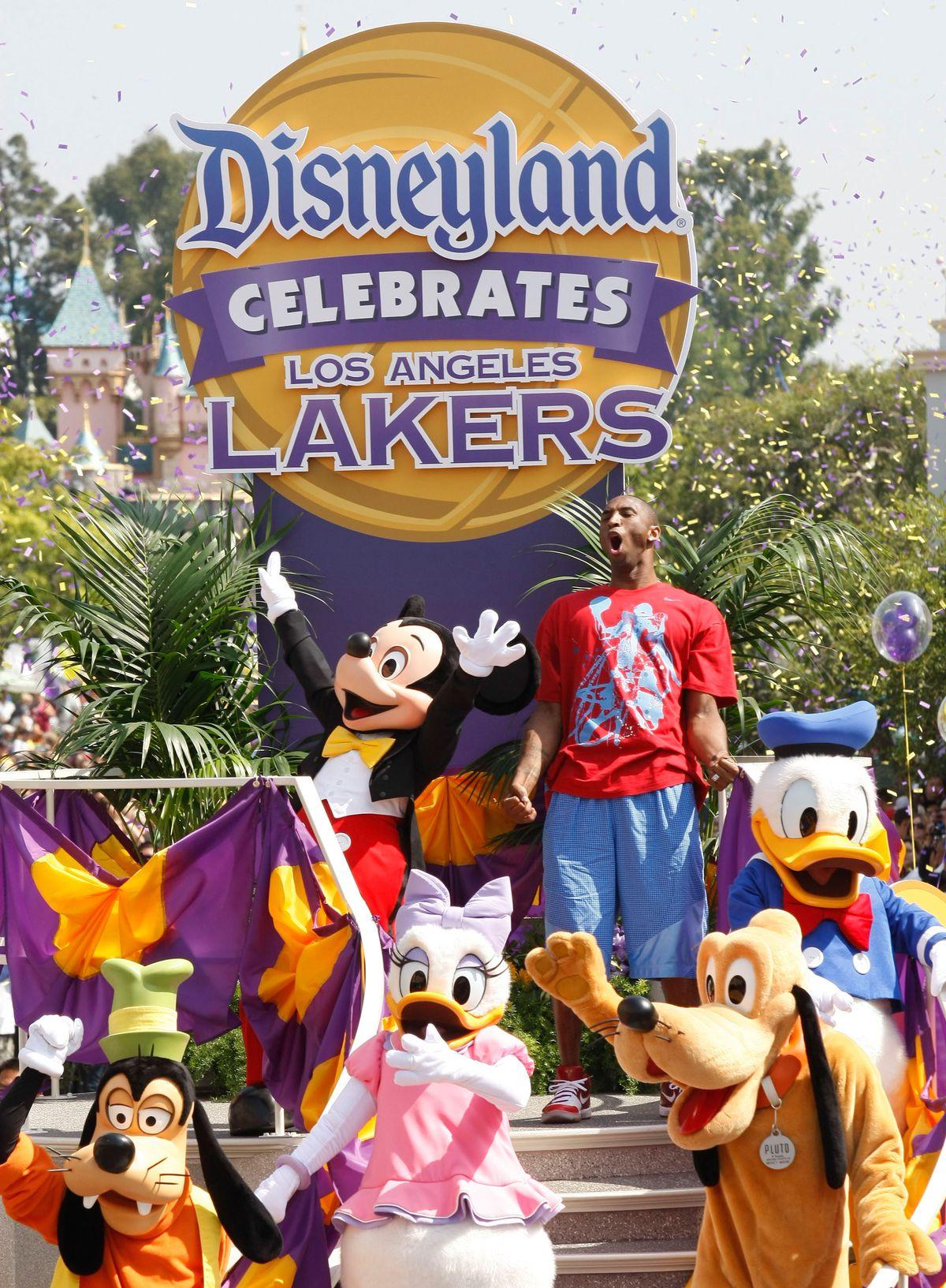2009 NBA Finals MVP Kobe Bryant Celebrates At Disneyland