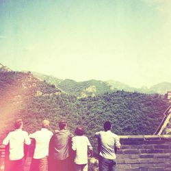 Beyond 5 members visited the Great Wall of China as part of their tour through Asia.