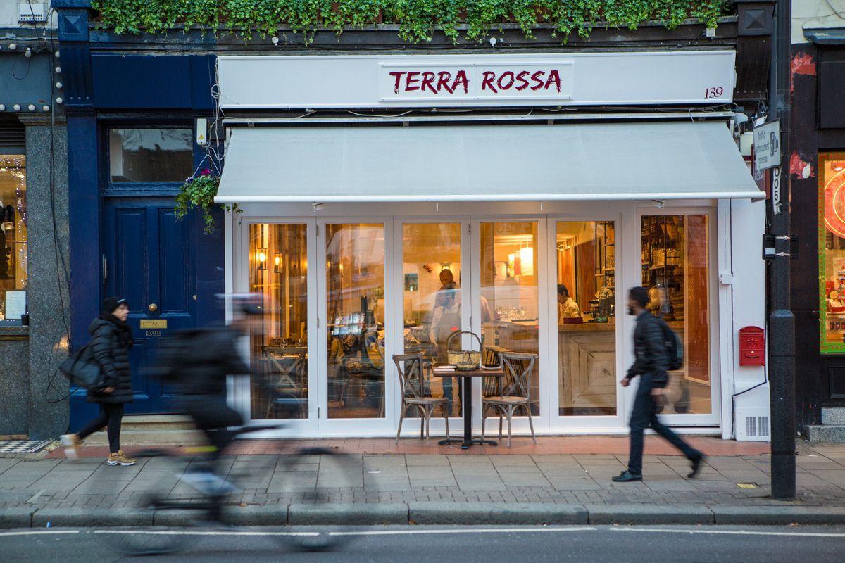 Terra Rossa restaurant on Upper Street in Islington, London, replacing tapas restaurant Thyme and Lemon