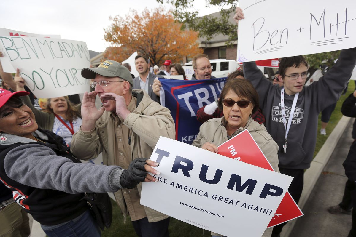 Trump supporters outnumbered at anti-impeachment event in Utah