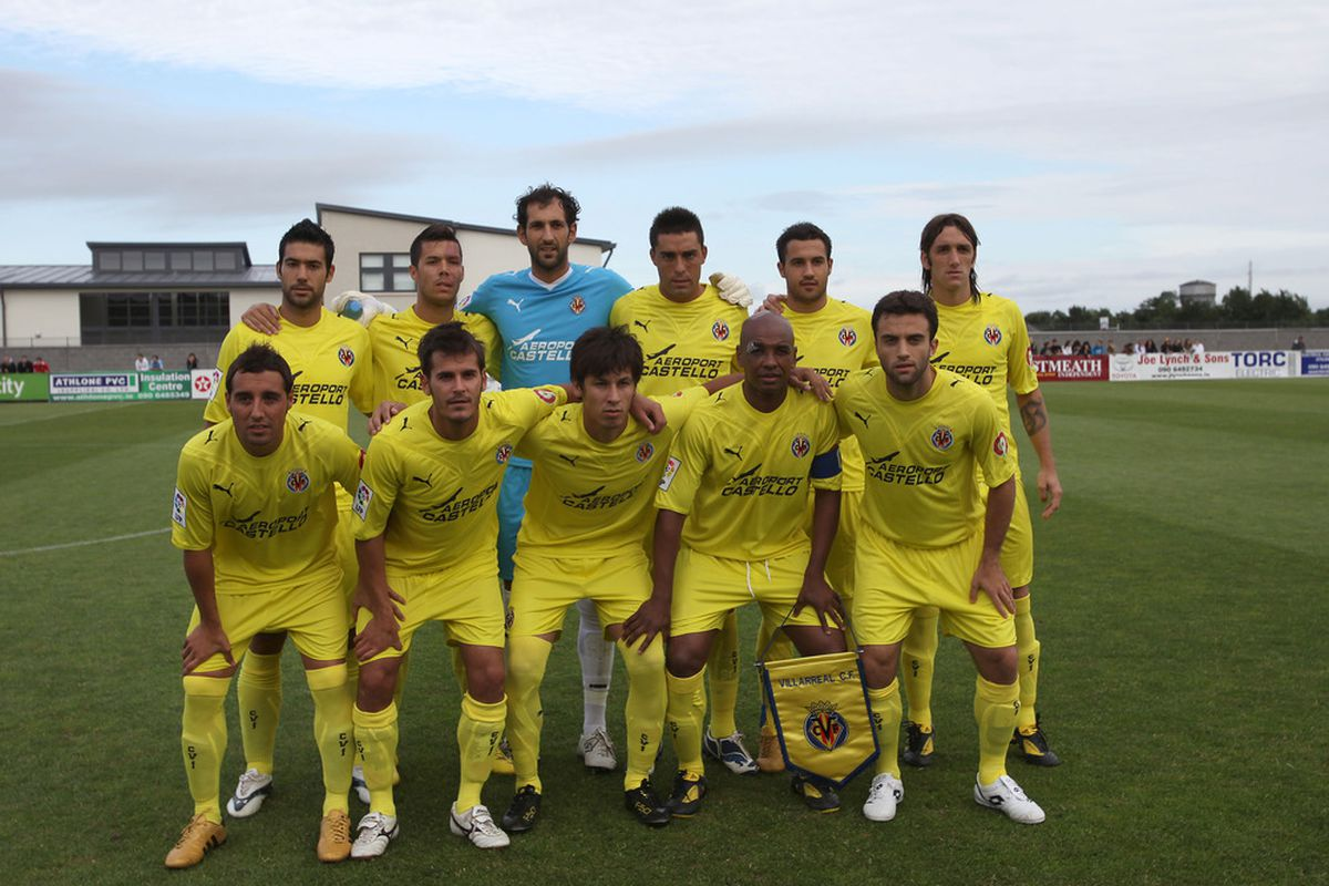The Villarreal lineup that took on Athlone Town in the first of Villarreal's friendlies last year.  How many can you name?  (and more to the point, how many will be in yellow when THIS season starts?) (photo courtesy Damien Dorrington)