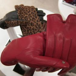 Gloves with built-in touchscreen-friendly sensors