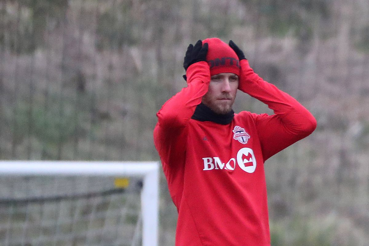 Toronto FC trains for the MLS Cup final next Saturday at their train facility at Downsview Park.