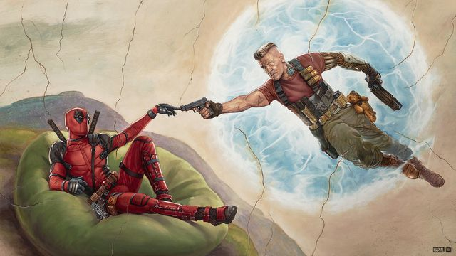 Promo art of Cable and Deadpool for Deadpool 2