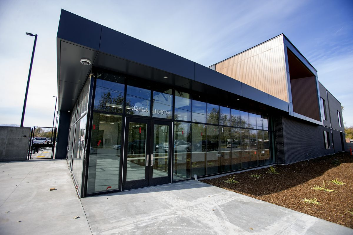 The new men's resource center in South Salt Lake is pictured on Monday, Oct. 28, 2019. Rocky Mountain Power, the S&P Anderson Foundation and Auric Energy donated $1.2 million to the three homeless resource centers for the rooftop solar arrays installed on each facility.