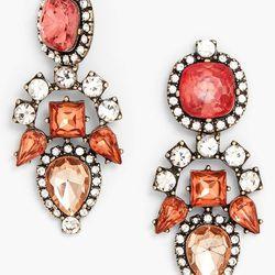 Aztec Mixed Stone Drop Earrings, $38