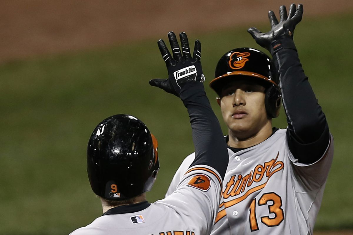 High fives for Manny Machado after a game-winning home run