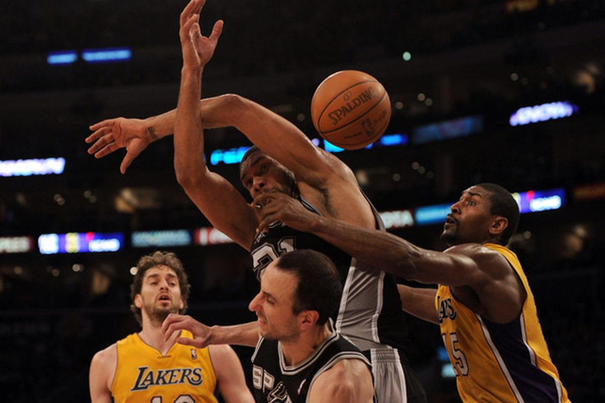 I love Gasol's face in this one.  (Photo by Harry How/Getty Images)