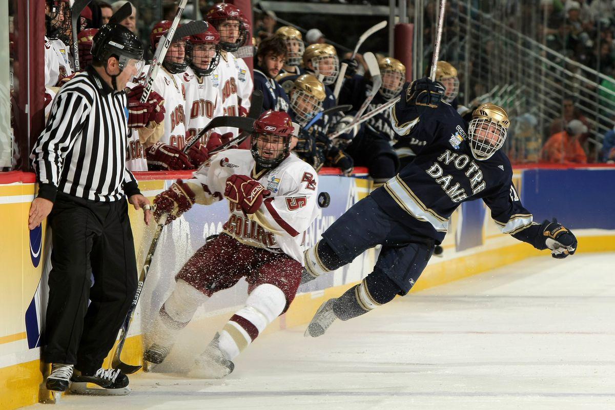 NCAA Frozen Four - Notre Dame v Boston College