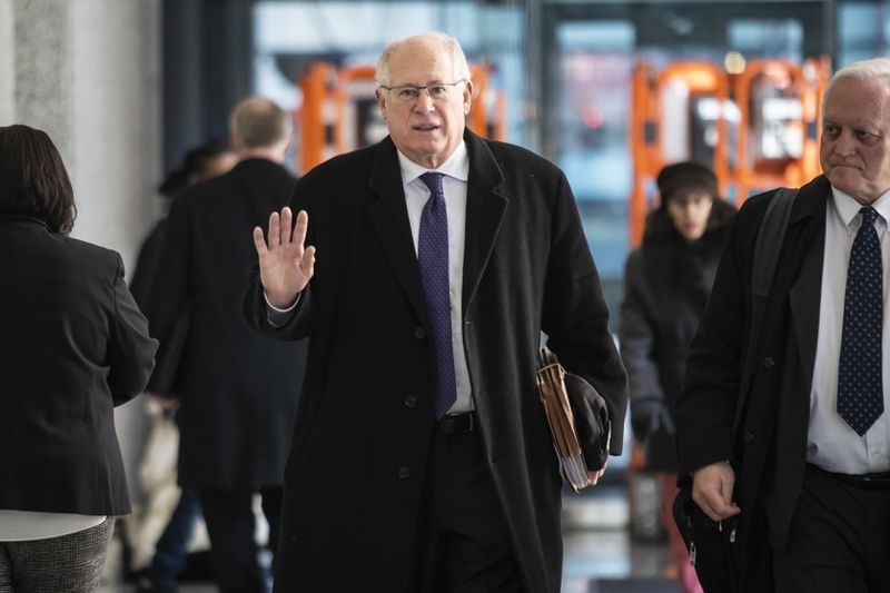 Former Illinois Gov. Pat Quinn walks out of the Dirksen Federal Courthouse last month.