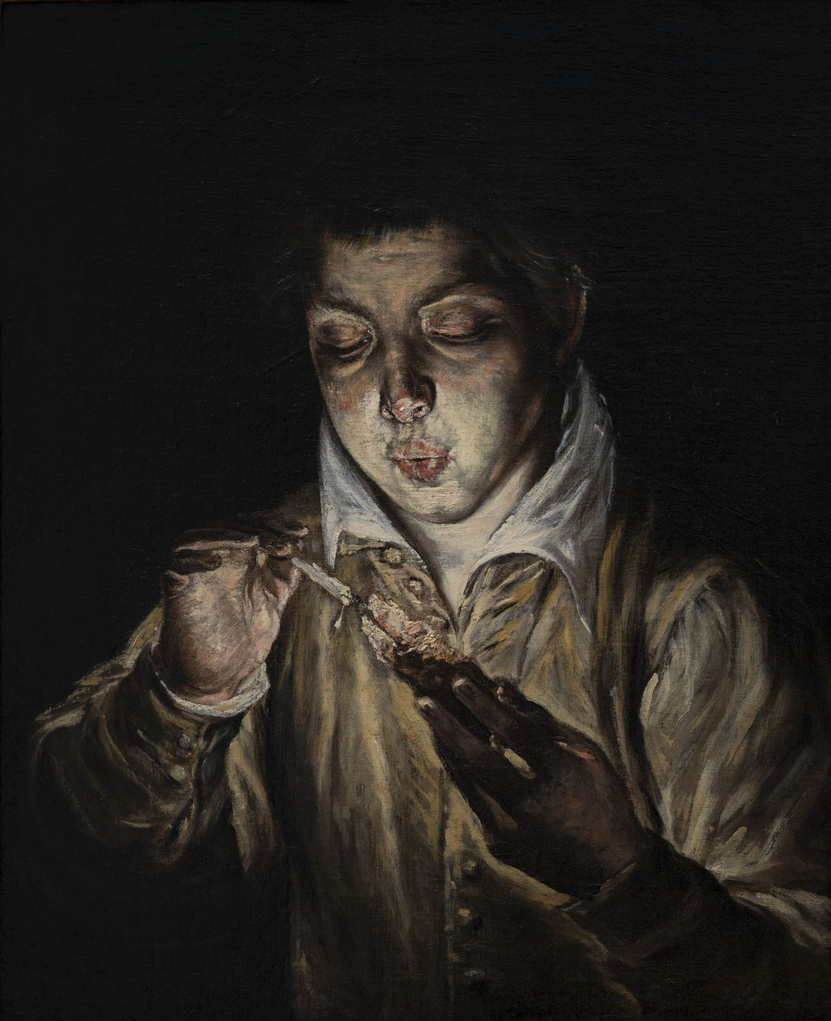 "El Greco (Domenikos Theotokopoulos). ""A Boy Blowing on an Ember to Light a Candle (El Soplón),"" about 1570. 