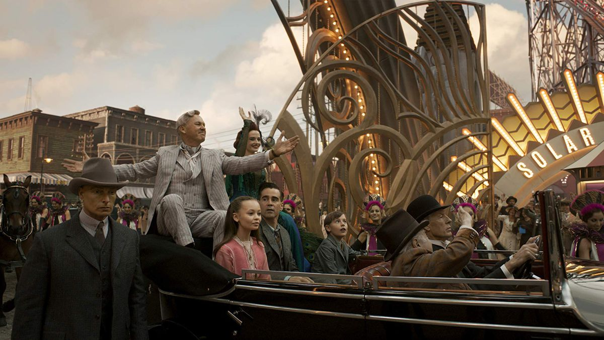 The gang enter V.A. Vandevere's world of enchantment — which is pretty obviously modeled on a Disney park.