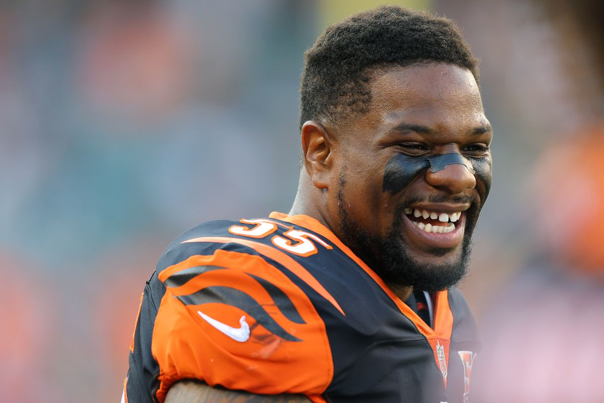official photos a16e5 f1abb Vontaze Burfict to be suspended 3 games to start 2017 NFL ...