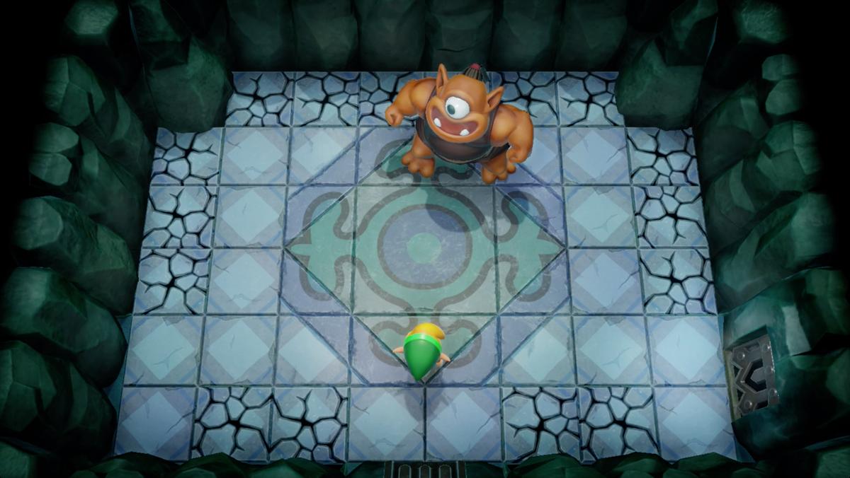 Link's Awakening Bottle Grotto Hinox mini-boss fight