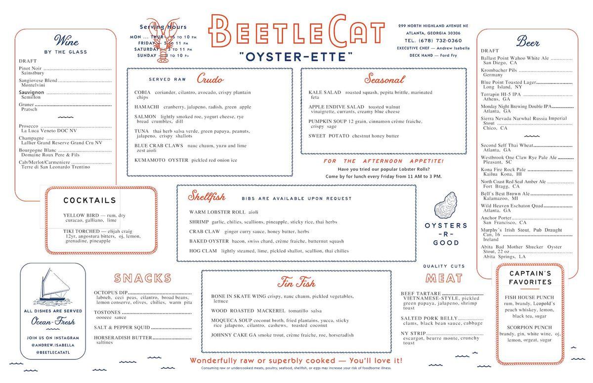 BeetleCat menu 2