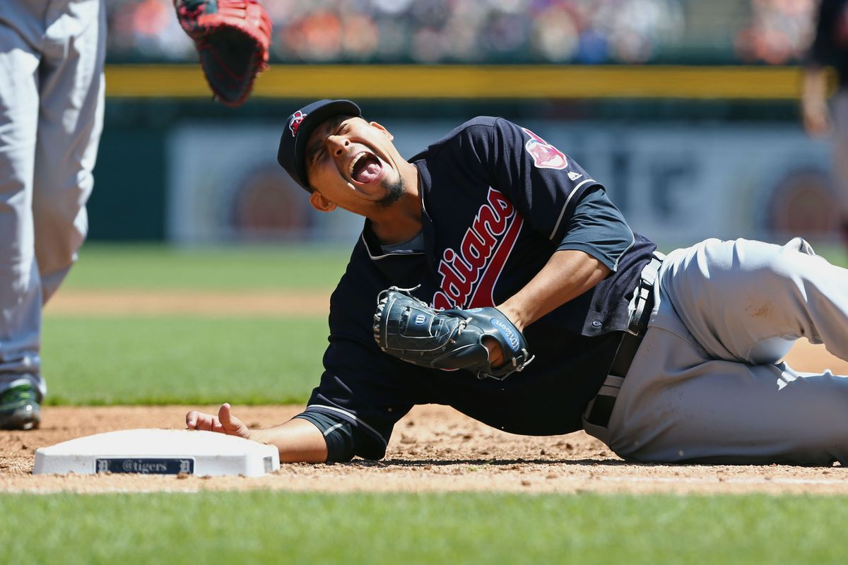 Carlos Carrasco suffers a hamstring injury that will keep him on the DL til June.