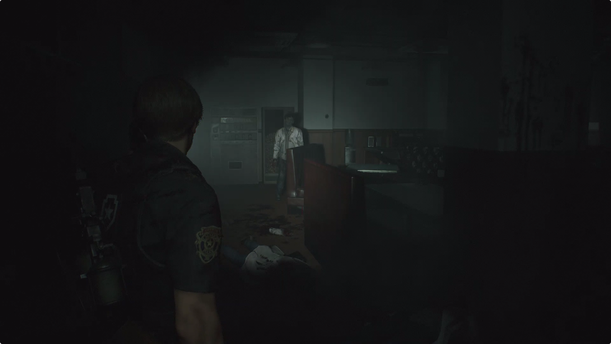 Resident Evil 2Leon walkthrough NEST Cafeteria