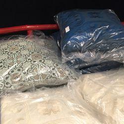Decorative pillows, $89-$120