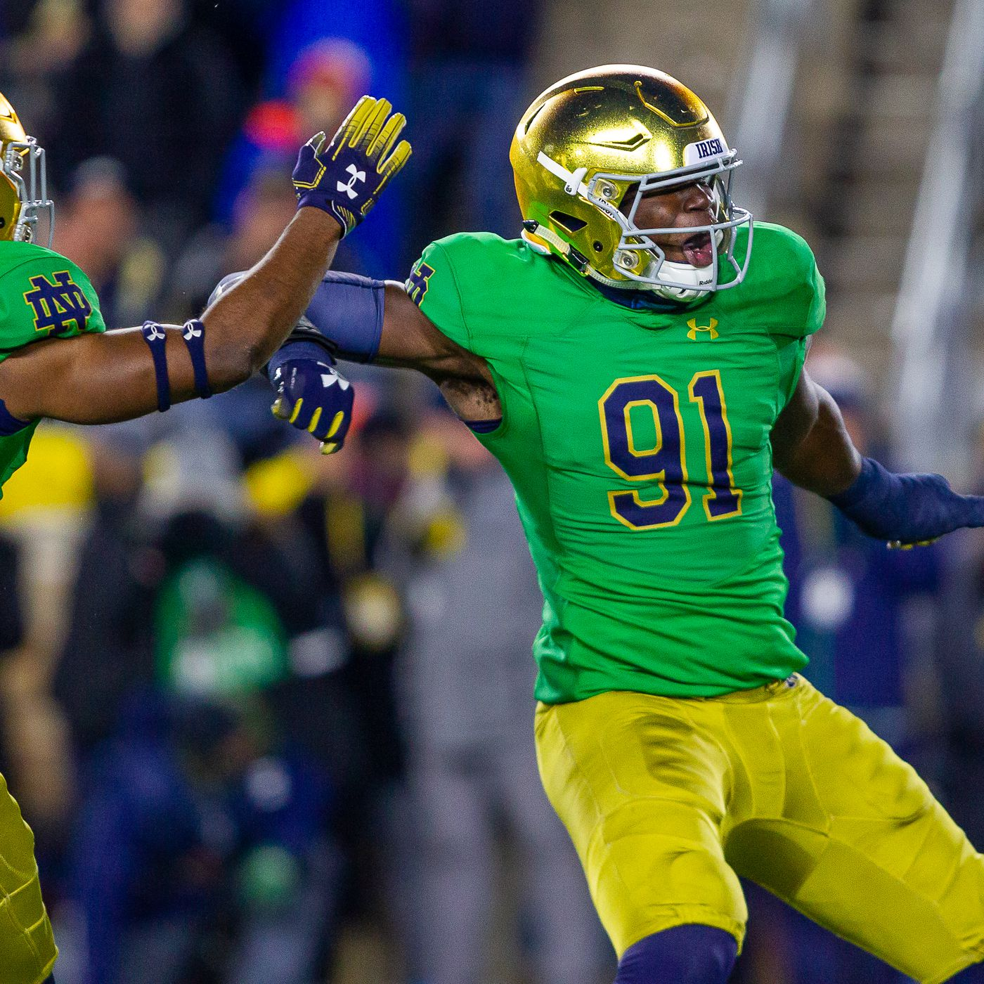 Notre Dame Should Wear Green Jerseys For The Clemson Game One Foot Down