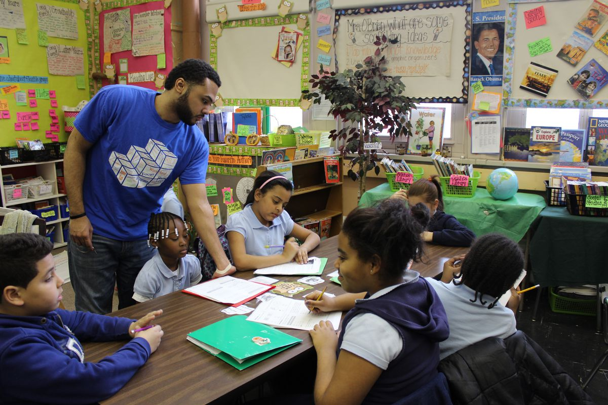 Students participate in after-school activities at the community school at P.S. 61 Francisco Oller in the Bronx.