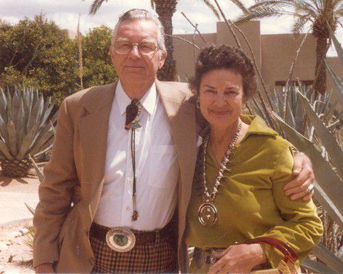 John Mayo Mitchell and his wife Betty Seabury Mitchell. | Courtesy of the Mitchell Museum of the American Indian