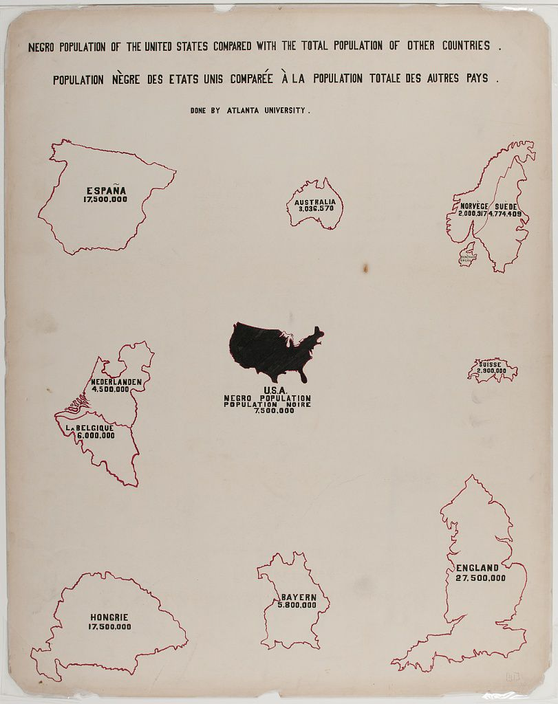 W.E.B. DuBois's chart of populations worldwide.